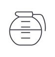 beverage drinks pot line icon sign vector image