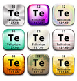 A button with the chemical element Tellurium vector image vector image
