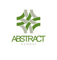 abstract geometric shape best for use as business vector image