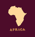 africa map icon grunge ink black silhouette vector image