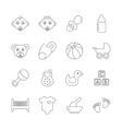 baline icons vector image