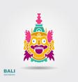 barong traditional ritual balinese mask flat