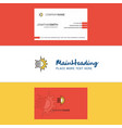 beautiful setting logo and business card vertical vector image vector image