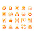 bitcoin simple gradient icons set vector image vector image