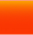 bright orange halftone background design vector image