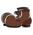 brown boots on white background vector image vector image