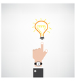 businessman hand with doodle light bulb sign vector image vector image