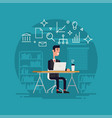 businessman working flat vector image