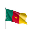 cameroon realistic flag vector image