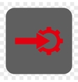 Cog Integration Rounded Square Button vector image vector image