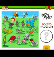 counting insects and bugs educational game vector image vector image