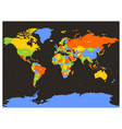 countries of the world colorful map vector image vector image