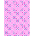 Crimson pink checkered background vector image vector image