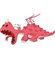 Cute red dragon Cartoon vector image vector image
