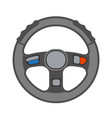 driving car vehchile wheel transportation vector image