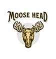 elk head moose stylish head isolated wild animal vector image
