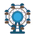 ferris wheel cartoon vector image vector image