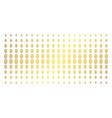 fingerprint gold halftone effect vector image vector image