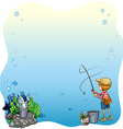 Fishing vector image vector image