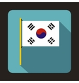 Flag of South Korea icon flat style vector image vector image