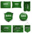 flag saudi arabia accurate dimensions vector image vector image
