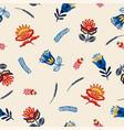 folk floral seamless pattern vector image vector image