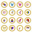 gays cartoon icon circle vector image vector image