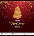 gingerbread fir tree cookie on red banner vector image