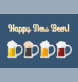 glasses light and dark beer vector image