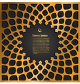gold label ramadan kareem greeting vector image vector image