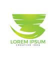 green leaf and mortar logo design vector image