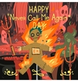 Happy never call me again day greeting card vector image vector image