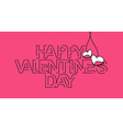 Happy Valentines day Text Design vector image