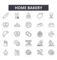 home bakery line icons signs set outline vector image vector image