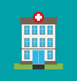 hospital building flat icon vector image vector image
