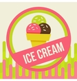 ice cream background vector image
