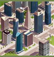isometric urban skyscrapers composition vector image vector image