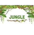 jungle exotic leaves and lianes background vector image vector image