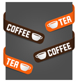 Left and right side signs - coffee and tea