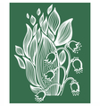 Lilies of the valley flower with simple frame vector image