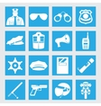 line set collection icons of police vector image