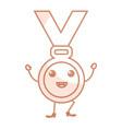 medal award kawaii character vector image