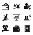 money stash icons set simple style vector image vector image