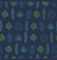 navy blue geometrical tropical summer vector image vector image