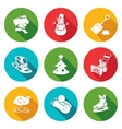 New Years Eve and Christmas Icons Set vector image vector image