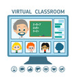 online education from home vector image vector image