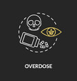 overdose chalk rgb color concept icon vector image vector image