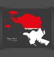 Papua barat indonesia map with indonesian vector image