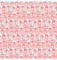 present seamless pattern in thin line style vector image vector image