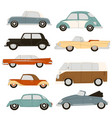 retro and modern cars automobile vehicles vector image